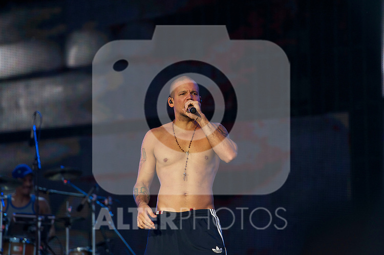 Calle 13 performs on stage during Rock in Rio Festival on June 5, 2010 in Arganda del Rey, Spain...Photo: Billy Chappel / ALFAQUI