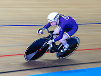26th January 2020; National Cycling Centre, Manchester, Lancashire, England; HSBC British Cycling Track Championships; Female team sprint round two heat 4 Blaine Ridge Davies  (picture with sync slower shutter speed and panning)