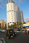 Modern architecture buildings central Colombo, Sri Lanka, Asia - BOC building and Twin Towers World Trade Centre