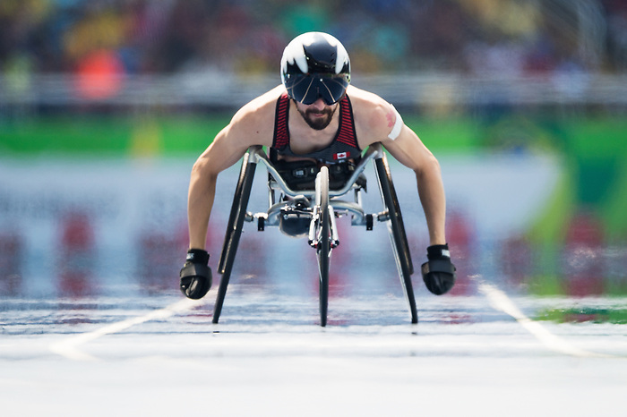 RIO DE JANEIRO - 11/9/2016:  Brent Lakatos competes in the Men's 400m - T53 Final at the Olympic Stadium during the Rio 2016 Paralympic Games in Rio de Janeiro, Brazil. (Photo by Matthew Murnaghan/Canadian Paralympic Committee