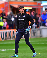 Chesterfield's Joe Anyon during the pre-match warm-up<br /> <br /> Photographer Andrew Vaughan/CameraSport<br /> <br /> The EFL Sky Bet League Two - Lincoln City v Chesterfield - Saturday 7th October 2017 - Sincil Bank - Lincoln<br /> <br /> World Copyright &copy; 2017 CameraSport. All rights reserved. 43 Linden Ave. Countesthorpe. Leicester. England. LE8 5PG - Tel: +44 (0) 116 277 4147 - admin@camerasport.com - www.camerasport.com