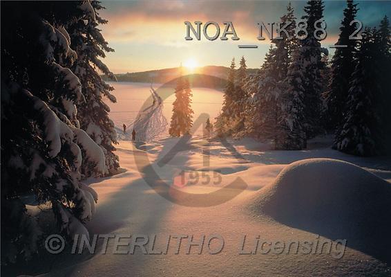CHRISTMAS LANDSCAPE, photos, wl, sunset(NOANK88/2,#XL#) Landschaften, Weihnachten, paisajes, Navidad