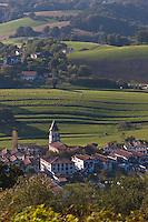 Europe/France/Aquitaine/64/Pyrénées-Atlantiques/Pays-Basque/Ainhoa: le village - Plus Beaux Villages de France