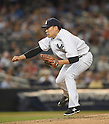 Masahiro Tanaka (Yankees), AUGUST 21, 2015 - MLB : Pitcher Masahiro Tanaka of the New York Yankees during the Major League Baseball game against the Cleveland Indians at Yankee Stadium in the Bronx, New York, United States. (Photo by AFLO)