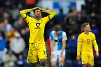 Rhian Brewster of Swansea City looks dejected at full time during the Sky Bet Championship match between Blackburn Rovers and Swansea City at Ewood Park on in Blackburn, England, UK. Saturday 29 February 2020