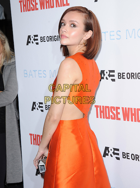 LOS ANGELES, CA - FEBRUARY 26 -Olivia Cooke attends The Premiere Party for A&amp;E's Those Who Kill and Season 2 of Bates Motel held at Warwick in Hollywood, California on February 26,2014                                                                              <br /> CAP/DVS<br /> &copy;DVS/Capital Pictures