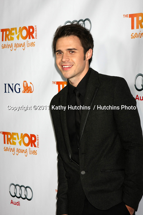 "LOS ANGELES - DEC 4:  Kris Allen arrives at ""The Trevor Project's 2011 Trevor Live!"" at Hollywood Palladium on December 4, 2011 in Los Angeles, CA"
