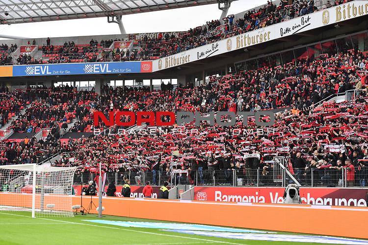 28.01.2018, BayArena, Leverkusen, GER, 1.FBL, Bayer 04 Leverkusen vs FSV Mainz 05,, im Bild im Bild Fankurve / Fans / Fanblock / Bayer 04 Leverkusen<br /> <br /> <br /> Foto &copy; nordphoto / Mauelshagen
