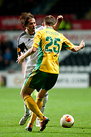 Thursday 24 October 2013  <br /> Pictured: Michu  in a challenge with Aleksei Kozlov of Kuban Krasnodar<br /> Re:UEFA Europa League, Swansea City FC vs Kuban Krasnodar,  at the Liberty Staduim Swansea