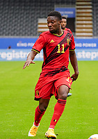 Belgium's Francis Amuzu (11) with the ball during a soccer game between the national teams Under21 Youth teams of Belgium and Germany on the 5th matday in group 9 for the qualification for the Under 21 EURO 2021 , on tuesday 8 th of September 2020  in Leuven , Belgium . PHOTO SPORTPIX.BE | SPP | SEVIL OKTEM