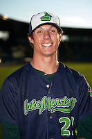 Vermont Lake Monsters pitcher Tyler Painton (21) poses for a photo before a game against the Hudson Valley Renegades on September 3, 2015 at Centennial Field in Burlington, Vermont.  Vermont defeated Hudson Valley 4-1.  (Mike Janes/Four Seam Images)