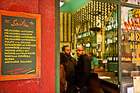 Small tapas bar, Madrid, Spain