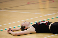 11 MAR 2009 - SHEFFIELD,GBR - Jo Harten celebrates Loughborough University's victory over the University of Bath in the Netball Championship Final at the 2009 BUCS Championships.(PHOTO (C) NIGEL FARROW)