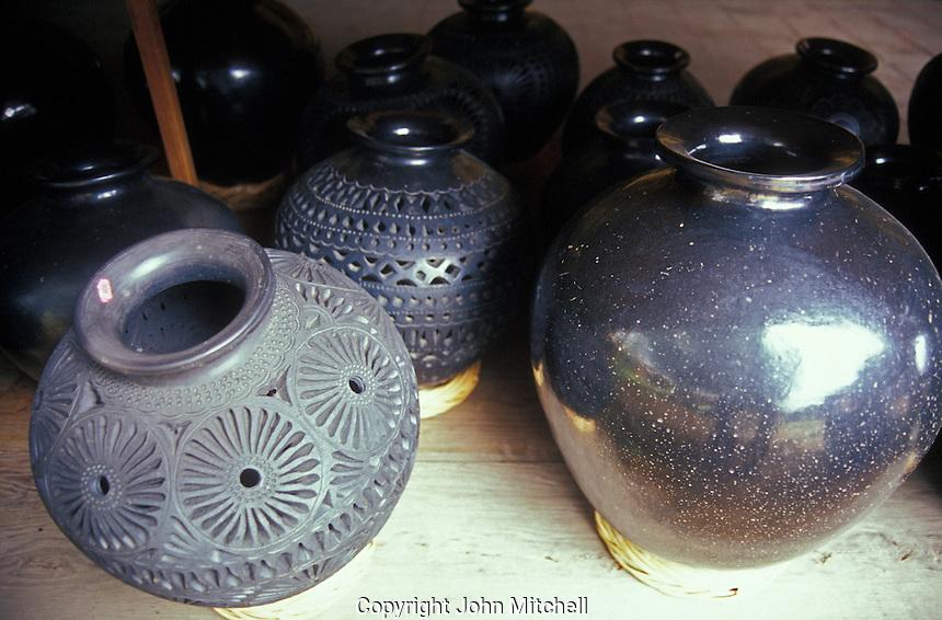 Black pottery in Dona Rosa's workshop, San Bartolo Coyotepec, Oaxaca, Mexico