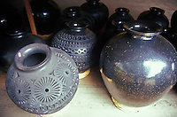 Black pottery in Dona Rosa's workshop, San Bartolo Coyotepec, Oaxaca, Mexico