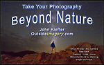 Beyond Nature is my favorite talk and applies to any camera from DSLR to Smart Phone. It's designed to get photographers of all levels to take their photography Beyond Nature, to a kind of travel photography. <br />