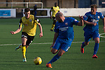 Edinburgh City defender Aaron Dunsmore in action at Links Park during their SPFL League 2 fixture against Montrose. It was Edinburgh City's first Scottish League visit to Montrose since the club were promoted from the Lowland League the previous season. City won the match 1-0 to record their first league win of the season, captain Dougie Gair scoring the winner from the penalty spot in the 68th minute in a match watched by 388 spectators.