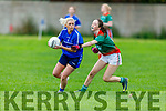 Kerins O'Rahills Carol Daly been tackled by Aoife Dillon of  Beale Ballyduff in the Kerry LGFA Junior C Football Championship