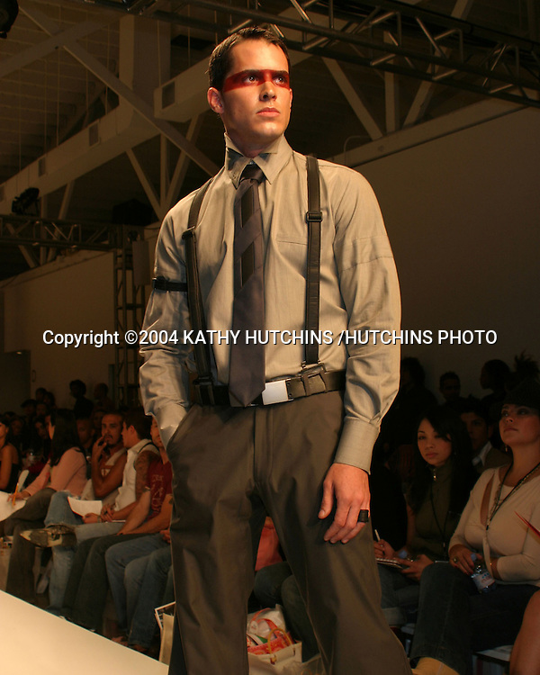 "©2004 KATHY HUTCHINS /HUTCHINS PHOTO.MERCEDES BENZ FASHION WEEK.LOS ANGELES, CA.""TOMER"" SHOW.MARCH 30, 2004 ..MARISSA RAMEREZ'S HUSBAND"