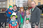 Attending the St Patrick's day parade in Castleisland were Gavin, Jack, John & Margo O'Sullivan with Linsay & Kelsey Horan & David McCarthy