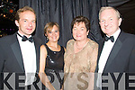 ..ATTENDED: The Quinn Family from Tralee who attended the Rose of Tralee Rose Ball on Friday night l-r: Dermot,Angelia, Colette and Michael Quinn.. ....