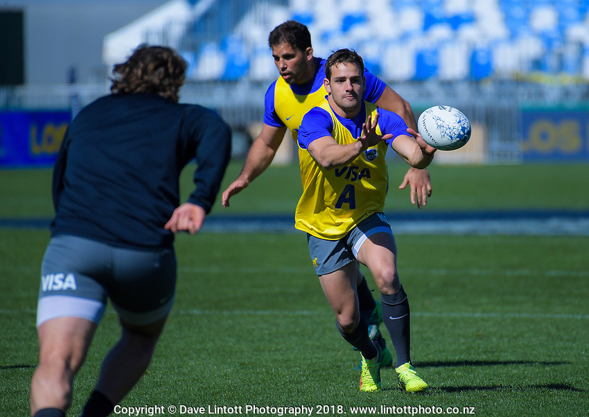 Nicolas Sanchez in action during the Rugby Championship Argentina Pumas captain's run at Trafalgar Park in Nelson, New Zealand on Friday, 7 September 2018. Photo: Dave Lintott / lintottphoto.co.nz