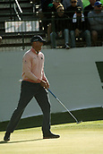 January 31st 2019, Scotsdale, Arizona, USA; Matt Kuchar hits his second shot during the first round of the Waste Management Phoenix Open