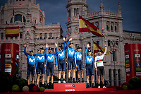 Team Movistar is the 'Nest Team' of this 2019 Vuelta<br /> <br /> Stage 21: Fuenlabrada to Madrid (107km)<br /> La Vuelta 2019<br /> <br /> ©kramon