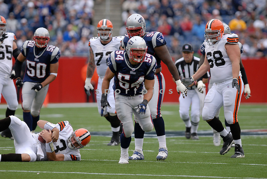 TEDY BRUSCHI, of the New England Patriots in action during the Patriots game against the Cleveland Browns on October 7, 2007 in Foxboro, Massachusetts...PATRIOTS WIN 34-17..SportPics
