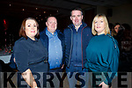 Susan and Declan O'Connell, Kieran and Ann Savage at   the Bon Jovee Tribute Band Fundraiser in The Brandon Hotel on Saturday night.