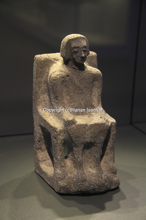 Israel, Jerusalem, a statue of a canaanite ruler from Hazor, 15th-13th century BC, at the Israel Museum