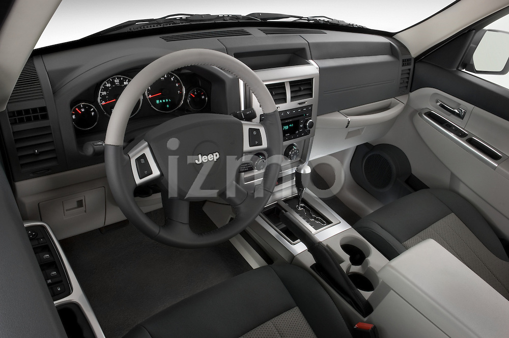 Stereo audio system detail of a 2008 Jeep Liberty Limited