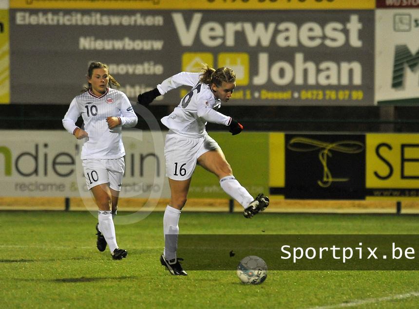 UEFA Women's Euro Qualifying group stage (Group 3) -  KFC Dessel - Armand Melis Stadion : BELGIUM - NORWAY ( Belgie - Noorwegen) : .Elise Thorsnes..foto DAVID CATRY / Vrouwenteam.be / Loft6.be