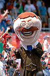 18 July 2007: Washington Nationals mascot Teddy Roosevelt interacts with fans between innings during a game against the Houston Astros at RFK Stadium in Washington, DC. The Nationals defeated the Astros 7-6 in the final game of their 3-game series...Mandatory Photo Credit: Ed Wolfstein Photo