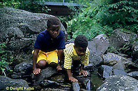 WF24-018z  Children exploring stream