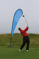 John Fitzpatrick (Ennis) on the 1st tee during the Munster Final of the AIG Junior Cup at Tralee Golf Club, Tralee, Co Kerry. 13/08/2017<br /> Picture: Golffile | Thos Caffrey<br /> <br /> <br /> All photo usage must carry mandatory copyright credit     (&copy; Golffile | Thos Caffrey)