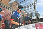 Geraint Thomas (WAL) Team Sky at sign on in Fortezza Medicea before the start of Strade Bianche 2019 running 184km from Siena to Siena, held over the white gravel roads of Tuscany, Italy. 9th March 2019.<br /> Picture: LaPresse/Gian Matteo D'Alberto | Cyclefile<br /> <br /> <br /> All photos usage must carry mandatory copyright credit (© Cyclefile | LaPresse/Gian Matteo D'Alberto)