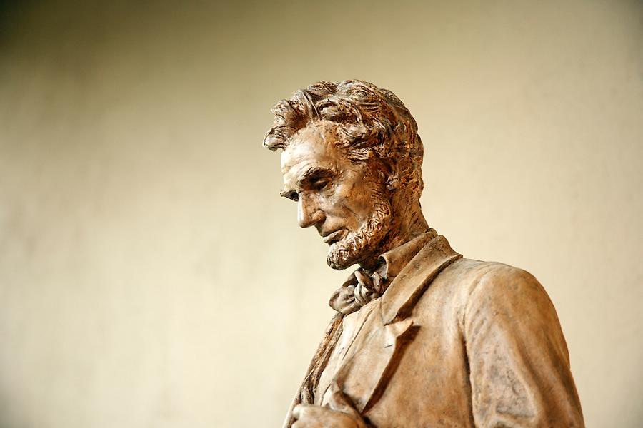 Statue of Abraham Lincoln, Little Studio, Saint-Gaudens National Historic Site, Cornish, Sullivan County, New Hampshire, USA