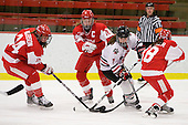 Melissa Anderson (BU - 24), Sarah Appleton (BU - 16), Brittany Esposito (NU - 7), Jillian Kirchner (BU - 18) - The Northeastern University Huskies defeated the Boston University Terriers in a shootout after being tied at 4 following overtime in their Beanpot semi-final game on Tuesday, February 2, 2010 at the Bright Hockey Center in Cambridge, Massachusetts.