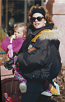 Melanie Griffith holding daughter Dakota Johnson Undated<br /> Photo By John Barrett/PHOTOlink