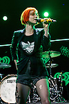 Hayley Williams of Paramore performs onstage during 103.5 KISS FM's Jingle Ball 2013, Presented by Jam Bluetooth Speakers, at United Center on December 9, 2013 in Chicago, IL.