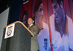 Dr. S. Robert Contiguglia, president of the United States Soccer Federation, on Monday, August 29, 2005, during the 2005 National Soccer Hall of Fame Induction Ceremony in Oneonta, New York.