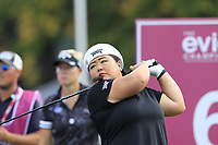 Christina Kim (USA) tees off the 6th tee during Friday's Round 2 of The Evian Championship 2018, held at the Evian Resort Golf Club, Evian-les-Bains, France. 14th September 2018.<br /> Picture: Eoin Clarke | Golffile<br /> <br /> <br /> All photos usage must carry mandatory copyright credit (&copy; Golffile | Eoin Clarke)