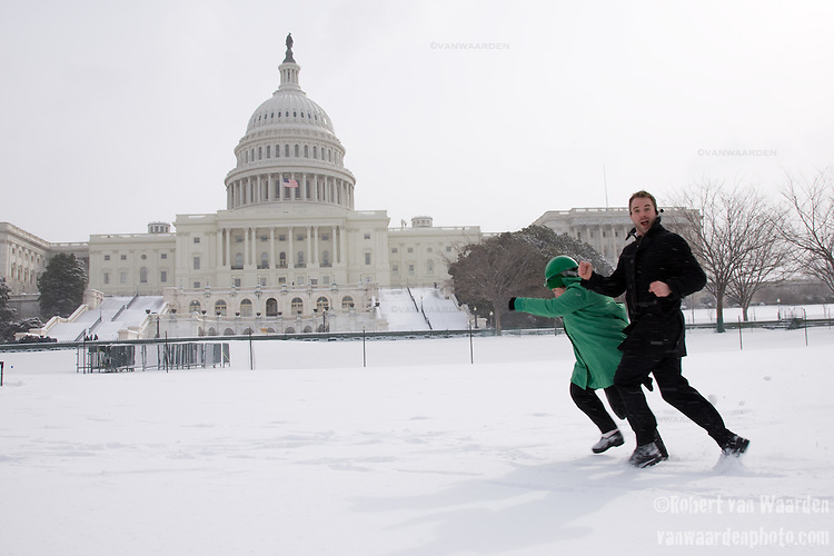 Energy Action Coalition Director Jessy Tolkan and Internet Director Jake Brewer storm the Capitol before the Power Shift Rally on Capitol Hill in Washington, D.C. - ©Robert vanWaarden ALL RIGHTS RESERVED