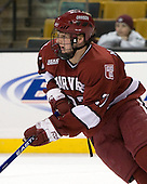 Michael Biega (Harvard - 27) - The Harvard University Crimson defeated the Northeastern University Huskies 3-1 on Monday, February 4, 2008, in the opening game of the 2008 Beanpot at TD Banknorth Garden in Boston, Massachusetts.