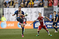 Sebastien Le Toux (11) of the Philadelphia Union. The Philadelphia Union and the Portland Timbers played to a 0-0 tie during a Major League Soccer (MLS) match at PPL Park in Chester, PA, on July 20, 2013.