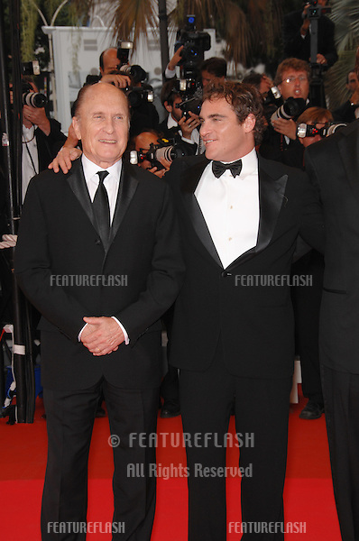 "Robert Duvall (left) &  Joaquin Phoenix at screening for ""We Own the Night"" at the 60th Annual International Film Festival de Cannes..May 25, 2007  Cannes, France..© 2007 Paul Smith / Featureflash"