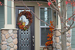 Front door with a Wreath