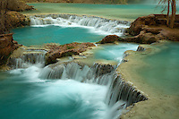 THE TERRACES BELOW HAVASU FALLS IN HAVASU CANYON, ARIZONA