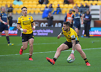 TJ Perenara scores during the Super Rugby Aotearoa match between the Hurricanes and Highlanders at Sky Stadium in Wellington, New Zealand on Sunday, 12 July 2020. Photo: Dave Lintott / lintottphoto.co.nz